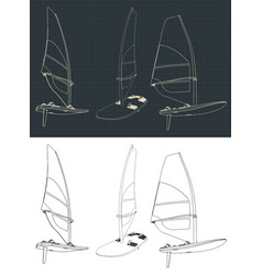 windsurf drawings vector image