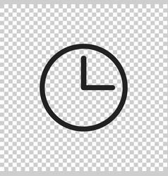 Clock icon flat clock pictogram vector
