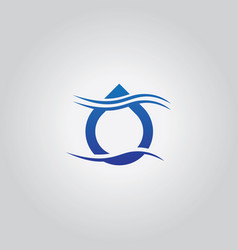 droplet wave logo vector image