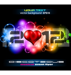 Valentines Day Disco Flyer vector image