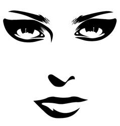 woman face detail closeup vector image vector image