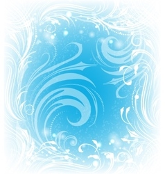 Background of frosty pattern vector image vector image