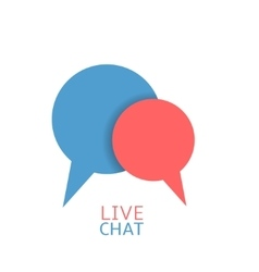 Chat logo icon vector image vector image