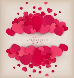 festive background Valentines Day vector image vector image
