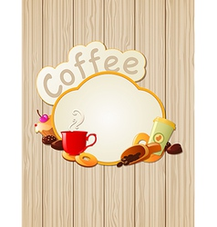 menu label coffee vector image