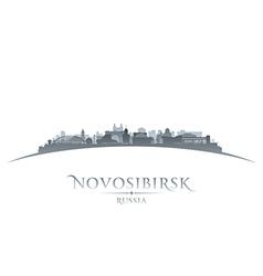 Novosibirsk Russia city skyline silhouette vector image vector image