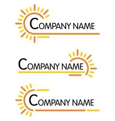 Corporate symbol templates vector image