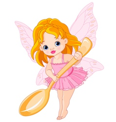 Cute little fairy vector image vector image
