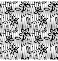 Flower lacy seamless background vector image vector image