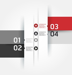Modern design numbered banners template vector