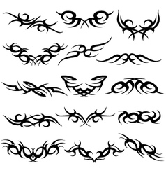abstract scroll symbol vector image