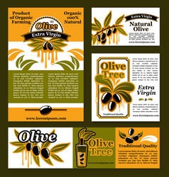 banners and poster for olive oil poducts vector image vector image