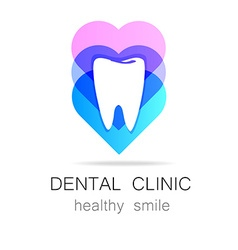 dental clinic healthy smile logo template vector image