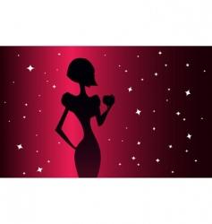 elegance woman vector image vector image