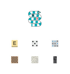 icon flat play set of table game maze vector image