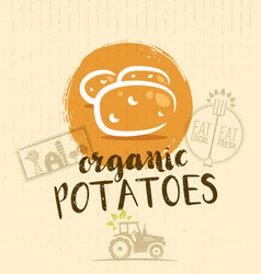 local farm potato hand drawn organic vegetable vector image