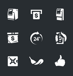 set of atm icons vector image