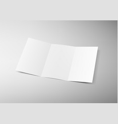 3d a4 or a5 three-folded clear blank brochure vector image