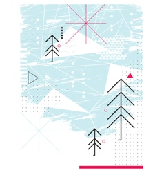 Abstract chirstmas card Geometric collage vector
