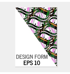 Abstract format poster brochure leaflet design vector