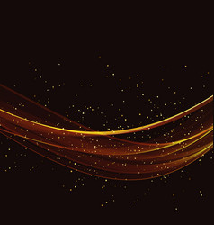 abstract gold luxury wave background vector image
