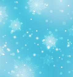 Abstract Light Blue Background with Snowflakes vector