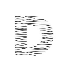 Abstract line initial d vector