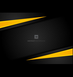 abstract template yellow geometric triangles vector image