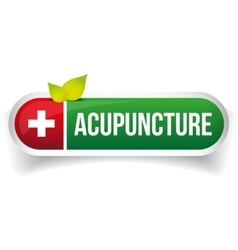 Acupuncture logo vector image