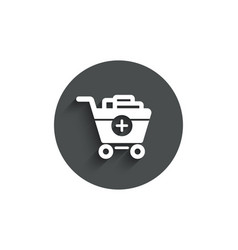 add to shopping cart simple icon online buying vector image
