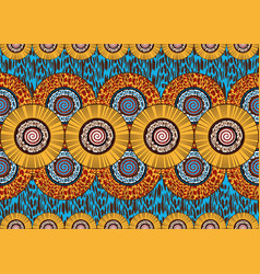 african wax print fabric ethnic handmade ornament vector image