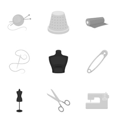 Atelie set icons in monochrome style Big vector