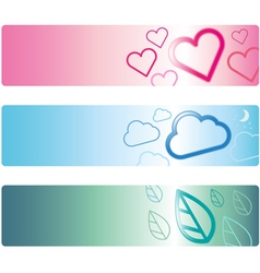 Banner template design with icon style vector image