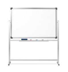 blank mobile dry erase magnetic whiteboar vector image