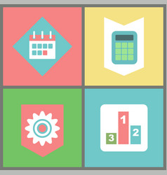calendar and calculator business and work items vector image