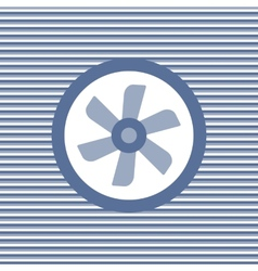 Car cooling fan color flat icon vector image