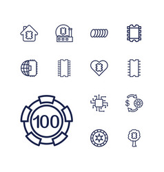 Chip icons vector