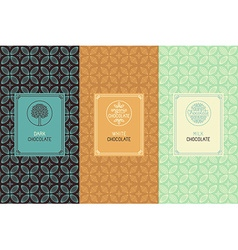 Chocolate packaging vector image