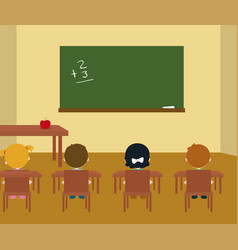 class room vector image