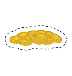 coins treasure isolated icon vector image