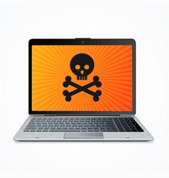 computer hack crash attack software concept vector image