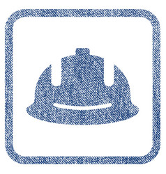 Construction helmet fabric textured icon vector