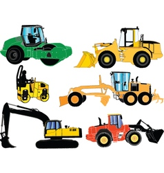 Construction machines - vector