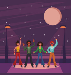 disco people cartoon vector image