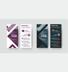 dl flyer template with color design isolated on vector image