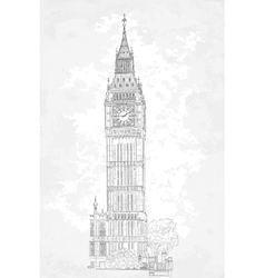 drawing London Big Ben vector image
