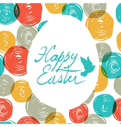 Easter colorful doodles vector
