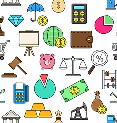 Economy colorful pattern icons vector