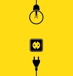 Electricity icon flat vector image