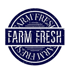 Farm fresh rubber stamp vector
